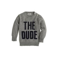 Cashmere baby sweater in the dude, J. Crew, $145