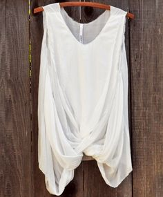 I just want a white tank top made with great quality fabric.