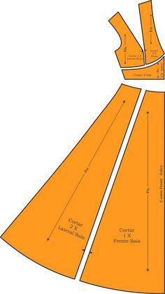 MIB - Моделирование бразильского промышленного: платье длинное