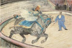 At the Circus: Work in the Ring - Henri de Toulouse-Lautrec, 1899.The Art Institute of Chicago, gift of Mr. and Mrs. B. E. Bensinger, 1972.1167 #Lautrec