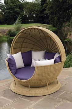 45 Outdoor rattan furniture - modern garden furniture set and lounge chair