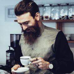 Morning regime 1. Apply original recipe beard balm after shower 2. Drink Coffe  3. Smile  #TheDarkHorse  Via  www.aireyys.com by aireyysltd