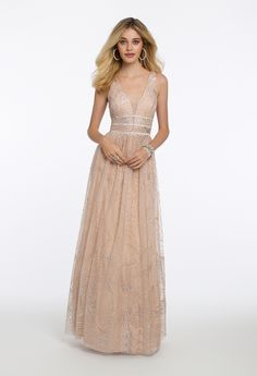 f06a291868f All Over Glitter Mesh Triple Bond Waist Dress from Camille La Vie and Group  USA