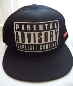Kpop-PARENTAL-ADVISORY-EXPLICIT-CONTENT-hip-hop-snapback-cap-hat-USA-SELLER