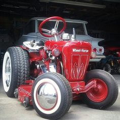 Hot rod Wheel-Horse Yard Tractors, Lawn Mower Tractor, Farmall Tractors, Antique Tractors, Vintage Tractors, Antique Cars, Wheel Horse Tractor, Garden Tractor Pulling, Homemade Tractor