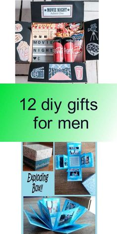 12 diy gifts for men Diy Gifts For Men, Exploding Boxes, Diy Tutorial, Crafts, Photos, Pictures, Manualidades, Photographs, Crafting