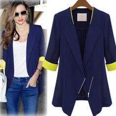 Autumn Women Blazers And Jackets 2013 Business Casual Clothes Fit Suit Leisure Shoulder Pads Blazer 2 Colors Sz S XL-inBlazer & Suits from A...