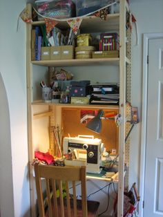 made by tamsin: Making Space - Sewing workspace made using Ivar shelving from Ikea