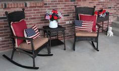 Southern Seazons: 4th of July front porch