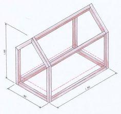 Como fazer uma cama em forma de casinha