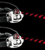Sweet jogging headlamp that auto adjusts brightness for your activity.  Do want!