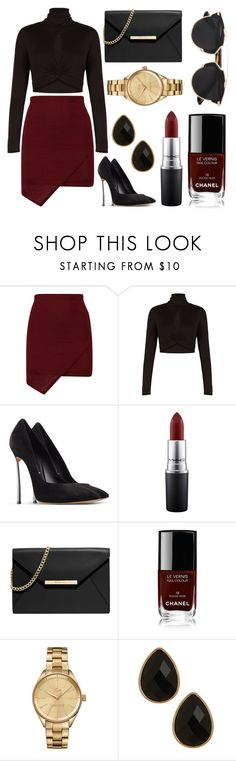 """Untitled #102"" by rodoulla97 on Polyvore featuring BCBGMAXAZRIA, Casadei, MAC Cosmetics, MICHAEL Michael Kors, Chanel, Lacoste, Natasha Accessories, Christian Dior, women's clothing and women's fashion"