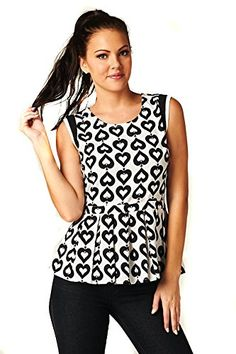 Black White Hearts Design Pleated Peplum Fashion Sleevele... http://www.amazon.com/dp/B019NTK684/ref=cm_sw_r_pi_dp_dhZvxb19TM420