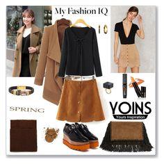 """Yoins Khaki Suedette Mini Skirt - 2"" by ludmyla-stoyan ❤ liked on Polyvore featuring Isabel Marant, J-Ann, STELLA McCARTNEY, Lauren Ralph Lauren, skirt, khaki, mini, yoins and yoinscollection"