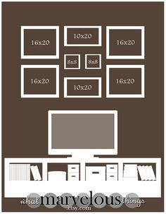 "I need to re-vamp my family photo wall..... need ideas! Photo Wall Display Templates - ""Magnolia Crescent"""