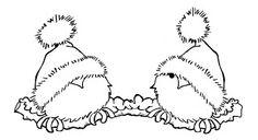 cute little birds Freebie Digi Stamp Christmas Coloring Pages, Coloring Book Pages, Christmas Colors, Christmas Art, Embroidery Designs, Illustration Noel, Christmas Drawing, Bird Patterns, Christmas Embroidery