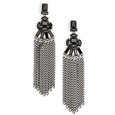 Women's Cristabelle Fringe Drop Earrings (62 CAD) ❤ liked on Polyvore featuring jewelry, earrings, drop earrings, polish jewelry, polished stone jewelry, stone jewelry and fringe earrings