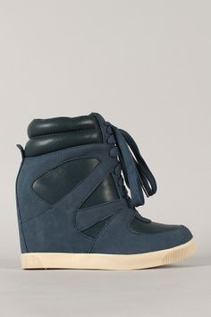 55004b1e229 Bamboo Jodie-03 High Top Lace Up Wedge Sneaker