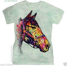 Rainbow Horse T-Shirt/Dusty Sage Tie Dye Tee
