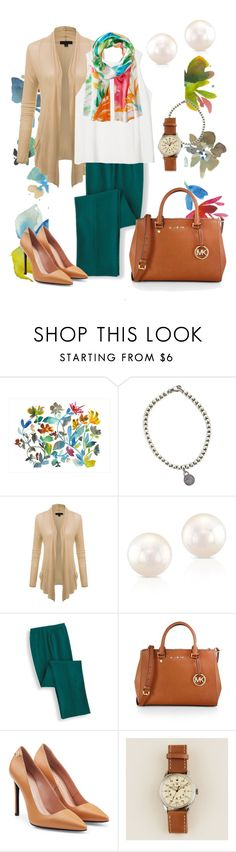 """Tropical colors"" by marijime on Polyvore featuring moda, Dot & Bo, Tiffany & Co., Anne Sisteron, MICHAEL Michael Kors, Roland Mouret, J.Crew, Lauren Ralph Lauren, WorkWear y Spring"