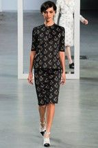Derek Lam. Red rosebuds on a black background just appeal to me, don't know why. And oh my god, the shoes.