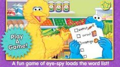 A Sesame Street App - a set of activities for early reading practice and vocabulary building (over 500 food related words) featuring Big Bird and Cookie Monster from Sesame Street. 6 Year Old Boy, Reading Practice, Early Reading, Vocabulary Building, Big Bird, Game App, Best Apps, S Word, Cookie Monster