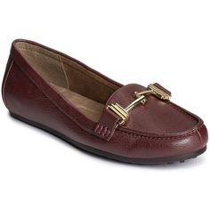 A2 by Aerosoles Test Drive Women's Loafers ($70) ❤ liked on Polyvore featuring shoes, loafers, med pink, grip shoes, driver loafers, slip on shoes, metallic slip on shoes and slip-on loafers