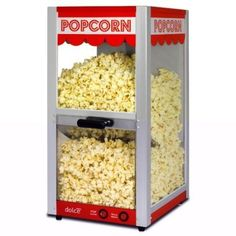 Pop corn as a low cost side. Different flavor toppings: Garlic, salty, pepper, spicy, cinnamon sugar etc. Hot Air Popcorn Popper, Air Popcorn Maker, Popcorn Machine Rental, Popcorn Machines, Cinema Popcorn, Candy Bar Wedding, Specialty Appliances, Food Truck, Stuffed Peppers