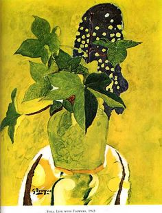 GeorgesBraque(French, 1882-1963)  Still life with flowers 1945