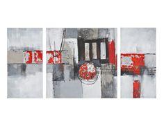 6390SET - Ensemble de 3 tableaux peints à la main 140cm x 70cm