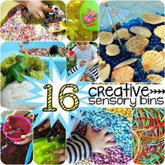 These creative sensory bins make sensory play awesome!