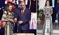 Kate, Duchess of Cambridge and Prince William attend party to celebrate Queen's 90th in Delhi | Daily Mail Online