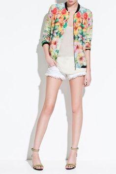 zara floral jacket. $60 #zara #floraljacket