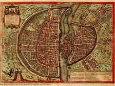 Plan de Paris (Braun et Hogenberg vers 1530, publié en 1572)
