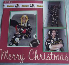 Merry Christmas Steelers Style Layout - Scrapbook.com
