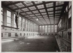"""bauhaus-movement: """"This gem of Bauhaus architecture on the quiet side road of busy Torstraße houses an attractive indoor swimming pool. Built in 1930 by architect Carlo Jelkmann and saved through the bomb raids of WWII, it was renovated in the early..."""