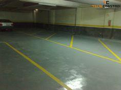 Projecto 162 - Pintura epoxy de pavimento de Oficina | Marcação de lugares - Marcação de lugares de estacionamento em parqueamento auto.