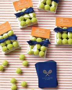 Everyone walked away a winner, with favor packets of Sugarpova gumballs and a deck of racket-adorned playing cards.