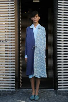 Blue Coat. #fashion #winter #pattern