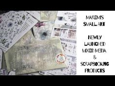 Mixed media products by Maremi Small Art- Marta Lapkowska- unboxing and review - YouTube