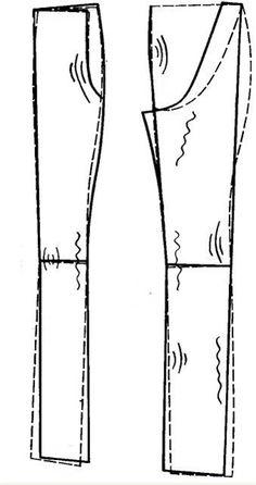 Влажно-тепловая обработка брюк - Форум Kroyka.ru Tailoring Techniques, Sewing Techniques, Sewing Class, Sewing Box, Dress Sewing Patterns, Clothing Patterns, Sewing Pants, Pattern Drafting, Jacket Pattern