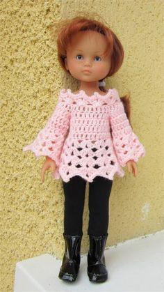 robe au crochet pour poup e ch rie de corolle crochet. Black Bedroom Furniture Sets. Home Design Ideas