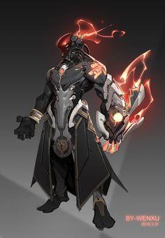 Fantasy Character Design, Character Design Inspiration, Character Concept, Character Art, Robot Concept Art, Armor Concept, Fantasy Armor, Dark Fantasy Art, Futuristic Armour