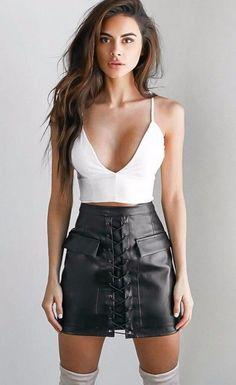 Thick Pencil Skirt Preppy Mini Skirt