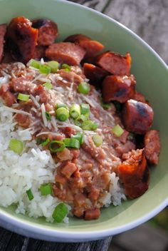 """Red Beans and Rice with """"New Orleans Style"""" Sausage"""