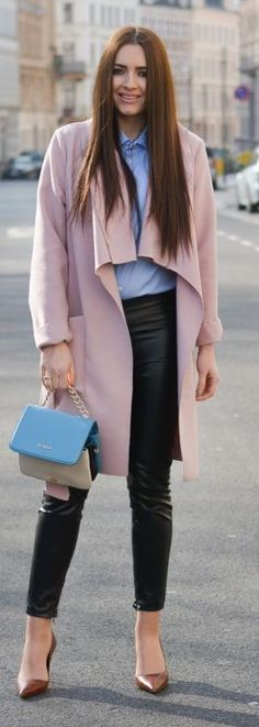 Pink Trench Outfit Idea
