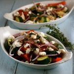 Roasted Zucchini and Goat Cheese with Balsamic-Thyme Vinaigrette | My Daily Morsel