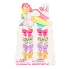 JoJo Siwa Rhinestone Bow Stud Earrings