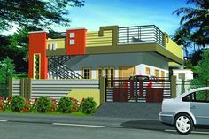 Small Single Story House Plans - Small Single Story House Plans , Tropical Style E Storey House Design House Front Wall Design, Single Floor House Design, Village House Design, Bungalow House Design, Small House Design, Modern House Design, 3d House Plans, Dream House Plans, Modern House Plans