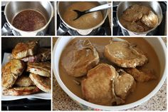 How to Collage Easy Pork Chops in Mushroom Gravy | PressureCookingToday.com